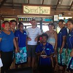 Staff with the 2016 Fiji excellence in tourism award for best eco surf resort