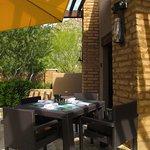 Turquesa Latin Grill - Upper patio seating