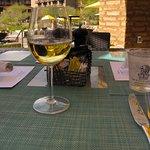 Turquesa Latin Grill - Upper patio seating w/ Story Point Chardonnay