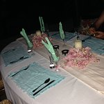 My birthday dinner table set up especially by Fabiano the chef