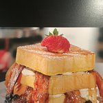 """Brown Sugar Bacon French Toast Club. Picture from """"You Gotta Eat Here!"""""""