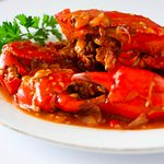 Crab with spicy sweet & sour sauce