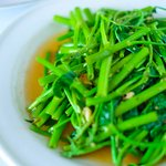 Sauteed fresh local kangkung