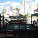 Free hotel shuttle across the river