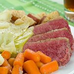 St Paddy's Day Special- Corned Beef and Cabbage w/carrots and potatoes.