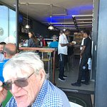 Top food and great view.  Healthy menu.  Hip place the trendy tourists like to frequent. A few f