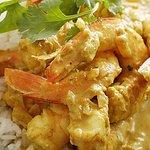 Prawns Curry mit Reis