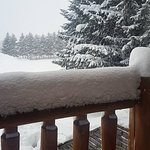 on the veranda