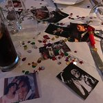 George Michael table decorations