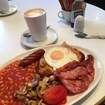 These were taken today in the Hide Away Cafe or as it's known now Central Way Cafe