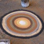 Artistes et compositions sables de couleurs différentes.