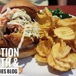 Fried Catfish Sandwich (special), outstanding! Crispy, tender, huge!