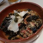 Black tagliatelle (i think) with crab and capers and something else - so TASTY