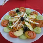 Perfect salad that goes perfectly along with sawfish fillet dish.