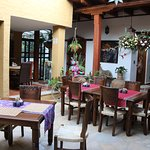 Central courtyard dining area