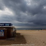 Walking along to Cambrils and a storm approaching