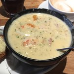 Best prawns we've ever had! The seafood chowder was delicious and full of seafood. The service w