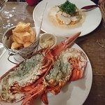 homard grillé et dos de cabillaud