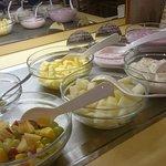 Frühstück: Obst & Quark