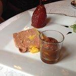 Foie gras et poire