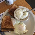 2 eggs, toast, side of grits