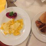 fresh made omelette