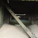 Interior of D-Day floating caisson at low tide, Gold Beach, Arromanches, Normandy