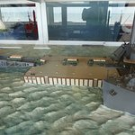 Model of part of D-Day's Mulberry Harbor in Gold Beach museum, Arromanches, Normandy
