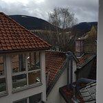 Blick auf den Harz, wenn man sich weit genug aus dem Fenster lehnt