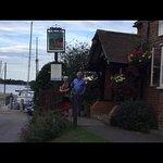 Our Australian friends enjoying our favourite English pub.