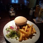 Horseshoe Inn burger, cooked to perfection. Quality ingredients!