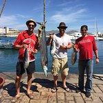3 skipjack and 1 wahoo