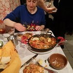 my friend rach and our half paella (so good)
