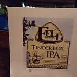 Tinder Box IPA - a guest beer on offer in the bar from the local Fell Brewery