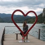 Find this photo op spot on the lake! sLOVEnia #love