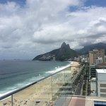 Vista de Ipanema desde la terraza del hotel