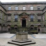 Lyme Park courtyard and main entrance