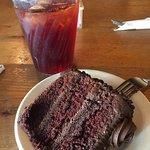 KILLER Chocolate Chip Cake and Raspberry Tea