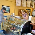 Breckenridge local buying his daily pastry