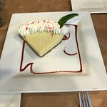 Key Lime Pie with Square Grouper logo Great Presentation