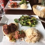 Lamb kofte £9.95 with large portion of mix salad & rice