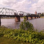 1/2 mile pedestrian bridge is a gorgeous walk from City Island to downtown Harrisburg! We love i