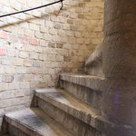 The stairs leading to the Belfry