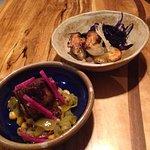 Monkfish dish & Smoked pork