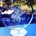 Exquisite glass sculptures on display