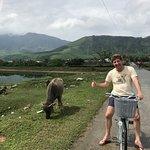 Bike rides into the village