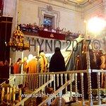 Re-enactment: Virgin Mary, cortege, in Basilica de Santa Maria