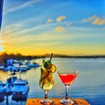 Sunset Bar  on the top deck offers the best sunset views in Noosa!