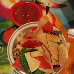 Start with Colorful Chips and salsa