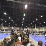 Turned into 40 volleyball courts.